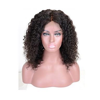 Remy haj 360 Frontális Paróka Brazil haj Göndör Tincselve 150% 180% Sűrűség 100% kézi csomózású Természetes hajszálvonal Közepes Hosszú