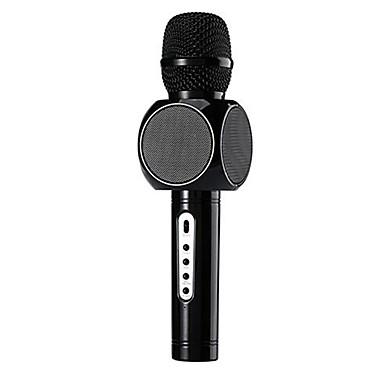 abordables Microphones-E103 Bluetooth Microphone Microphone à Condensateur Microphone à Main Pour Microphone de Karaoké