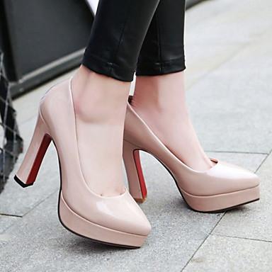 Nouveauté pointu Printemps Talon Bottier Automne Bout Femme à Chaussures Noir Polyuréthane Amande 06239089 Talons Confort Chaussures Beige wq7SXCT
