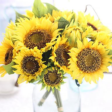Artificial Flowers 7 Branch European Sunflowers Tabletop Flower