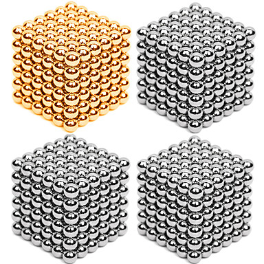 216*4 pcs 3mm Magnet Toy Magnetic Balls / Building Blocks / Puzzle Cube Metalic Contemporary / Classic & Timeless / Chic & Modern Stress and Anxiety Relief / Office Desk Toys / Relieves ADD, ADHD