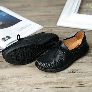 Femme Automne Chaussures Bout rond Eté 06196136 Similicuir Orange Confort Oxfords Talon Noir Cuir Combinaison Plat rxrq1nfRwF