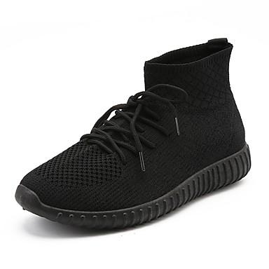 בגדי ריקוד גברים רשת אביב / קיץ נוחות נעלי ספורט שחור / אדום