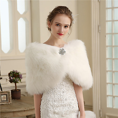 Faux Fur Wedding / Party / Evening Women's Wrap With Buttons / Fur Capelets