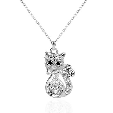 Women's Pendant Necklace / Chain Necklace / Y Necklace - Flower, Animal Silver Necklace Jewelry For Party, Birthday, Party / Evening / Daily