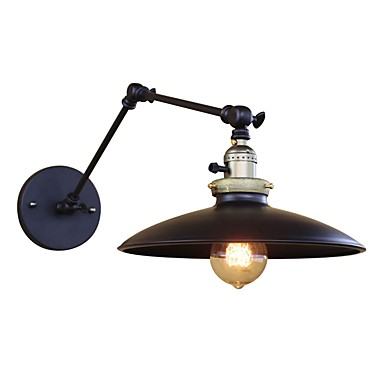 OYLYW Mini Style Rustic / Lodge / Antique / Vintage Swing Arm Lights Living Room / Bedroom Metal Wall Light 110-120V / 220-240V 60 W / E26 / E27