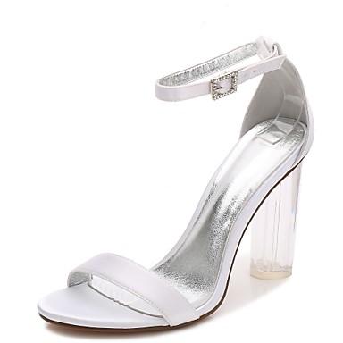 ba083a821ea cheap Wedding Shoes-Women  039 s Satin Spring   Summer T-Strap