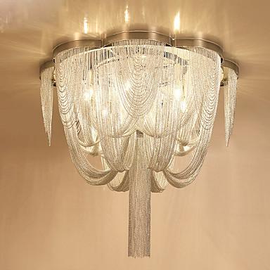6-Light Mennyezeti lámpa Háttérfény Króm Fém Az izzó tartozék 110-120 V / 220-240 V Meleg fehér / Hideg fehér Az izzó nem tartozék