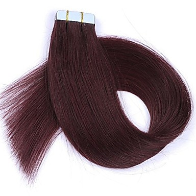 Tape In Human Hair Extensions Straight Human Hair Extensions Women's