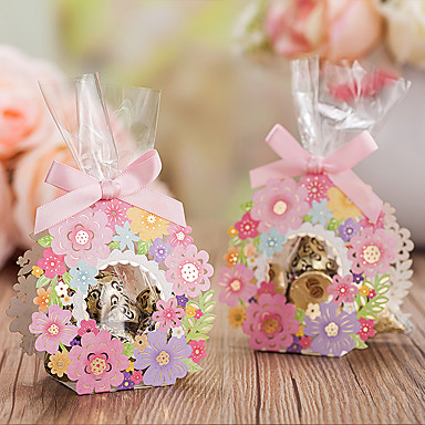 Basket Creative Card Paper Favor Holder with Pattern Favor Boxes Gift Boxes - 20