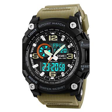 SKMEI Ανδρικά Αθλητικό Ρολόι Στρατιωτικό Ρολόι Ρολόι Καρπού Ιαπωνικά  Ψηφιακή Συνθετικό δέρμα με επένδυση Μαύρο   Πράσινο   Χακί 50 m Ανθεκτικό  στο Νερό ... fa0e19a9f13