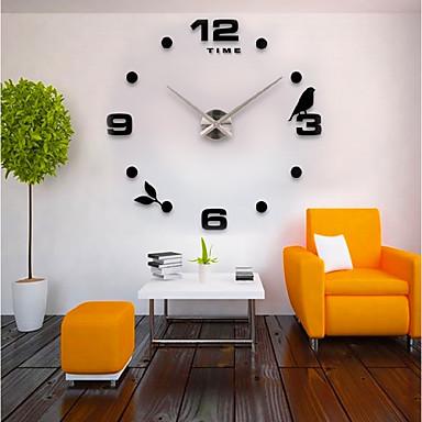 Wall Clock,Casual Modern Contemporary Office / Business Stainless Steel EVA Indoor / Outdoor Indoor