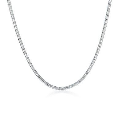 billige Mote Halskjede-Herre Dame Kjedehalskjeder Grunnleggende Mote Kobber Sølvplett Sølv Halskjeder Smykker Til Daglig Avslappet