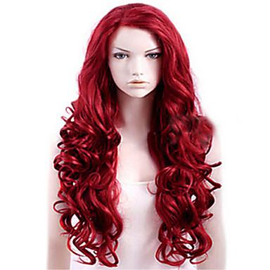Pelucas sintéticas Mujer Ondulado Grande Rojo Pelo sintético Rojo Peluca  Larga Sin Tapa Vino oscuro 6229241 2019 –  14.11 0bdfb4097002