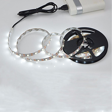 billige LED Strip Lamper-2m Fleksible LED-lysstriper 120 LED 2835 SMD Varm hvit / Hvit Kuttbar / Selvklebende 5 V 1pc
