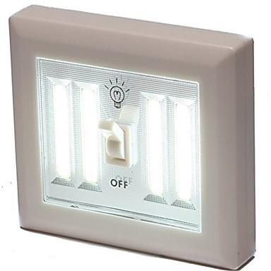 1 pc LED Night Light White Battery Infrared Sensor
