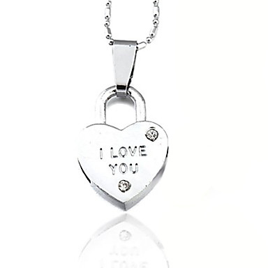 Women's Pendant Necklace - Heart, Love Silver Necklace For Daily, Casual