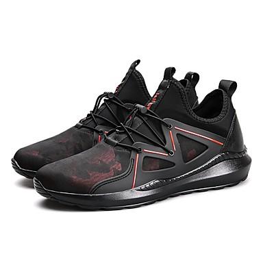 7cc770142 للرجال PU ربيع / خريف مريح أحذية رياضية الركض أسود / أسود وأبيض / أسود /
