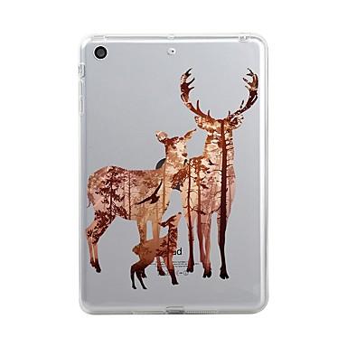 Case Kompatibilitás Apple iPad (2017) Átlátszó / Minta Fekete tok Karácsony Puha TPU mert iPad Air / iPad 4/3/2 / iPad Mini 3/2/1
