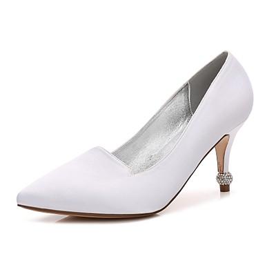 Confort Chaussures Kitten Talon Basique Bout Cône Talon de Eté mariage Chaussures Printemps Bas Escarpin Heel 06255372 Femme Satin pointu HIw4dqxBB