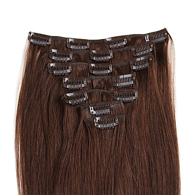 Febay Clip In Human Hair Extensions Straight Human Hair Extensions Nano Women's