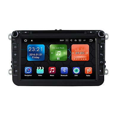 8 inch 2 DIN Android 7.1 GPS / High Definition / Touch Screen for Volkswagen Support / Bluetooth / Built-in Bluetooth / RDS / WiFi / SD / USB Support