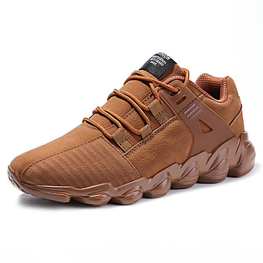 Men's Light Soles Pigskin Summer / Fall Comfort Sneakers Black / Gray / Brown