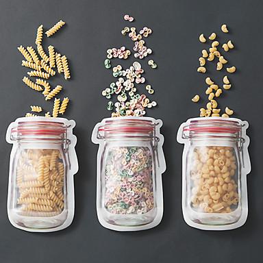 Kitchen Organization Bulk Food Storage Plastic Easy to Use 3pcs