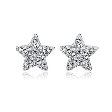 Women's Crystal / AAA Cubic Zirconia Stud Earrings - Cubic Zirconia, Silver Plated Star Personalized, Punk, Cross Silver For Party / Graduation / Daily