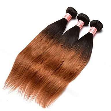 Perui haj Egyenes Ombre Emberi haj sző Fekete / Medium Auburn