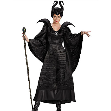 Witch Fairytale Cosplay Cosplay Costume Party Costume Women's Halloween Carnival Festival / Holiday Halloween Costumes Outfits Black Solid Color