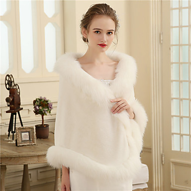 Faux Fur Wedding / Party / Evening Women's Wrap With Fur Shawls