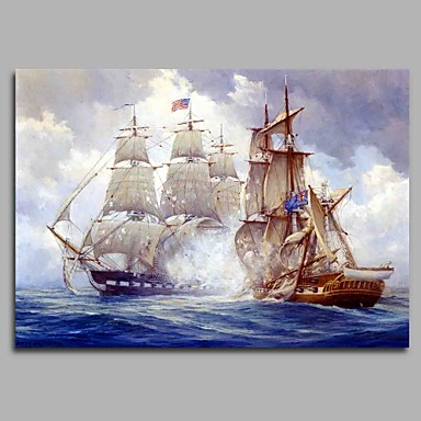 Oil Painting Hand Painted - Famous Artistic Classic Classic & Timeless Canvas