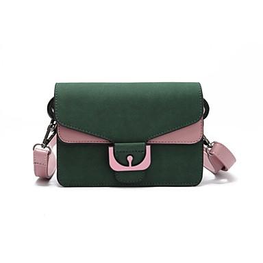 Női Táskák PU Vállon átvetős táska Fodrozott mert Szabadtéri Fekete / Barna / Katonai zöld