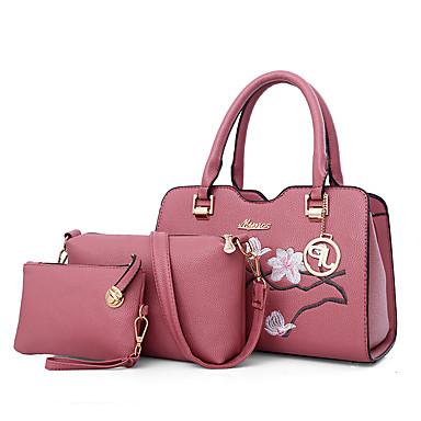 Női Táskák PU táska szettek Hímzés Mértani Arcpír rózsaszín   Katonazöld    Szürke 257976b112