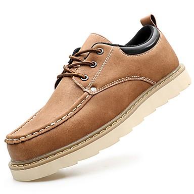Férfi cipő PU Tavasz Ősz Kényelmes Félcipők Fűző mert Hétköznapi Fekete Barna Kék