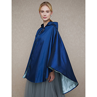 Taffeta Wedding / Party / Evening Women's Wrap With Cap / Lace-up Capes