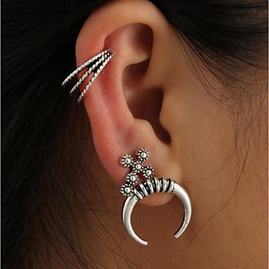 Női Bohém Ezüstözött Beszúrós fülbevalók - Személyre szabott / Bohém Ezüst Geometric Shape Fülbevaló Kompatibilitás Klub / Utca
