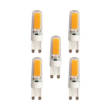 5pcs 3 W 240 lm G9 LED betűzős izzók T 2 led COB Meleg fehér Fehér AC 220-240V