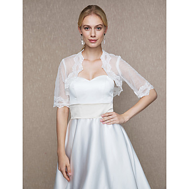 Tulle Wedding / Party / Evening Women's Wrap With Appliques Shrugs