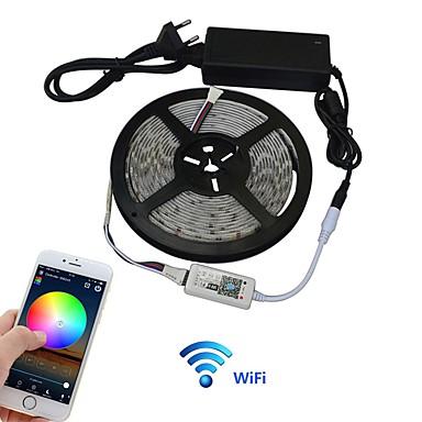 JIAWEN 5m Light Sets 300 LEDs 5050 SMD Multi Color APP Control 100-240 V 1set