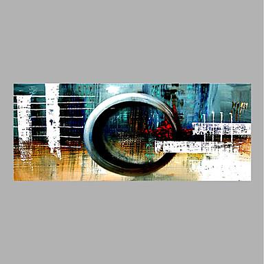 Hang festett olajfestmény Kézzel festett - Absztrakt Absztrakt Vászon / Hengerelt vászon