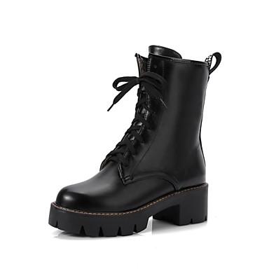 Chaussures Noir Talon Bout Lacet Femme Botte Mode Bottier la Nouveauté 06222200 Demi Bottine Similicuir Blanc Bottes Hiver à rond Bottes FnzgdqnU