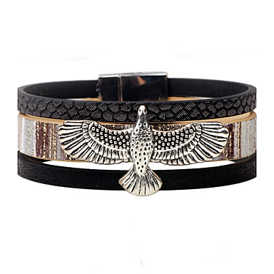 Men's Women's Leather Bracelet - Leather Eagle Personalized, Vintage Bracelet Jewelry Black / Gray / Coffee For Casual Stage