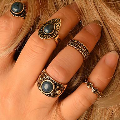 Mulheres Conjunto de jóias - Personalizada, Fashion, Euramerican Incluir Anel Dourado Para Diário / Casual / Ao ar livre / Anéis