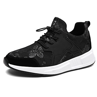 Férfi cipő PU Tavasz Ősz Könnyű talpak Kényelmes Sportcipők Fűző mert Hétköznapi Szabadtéri Arany Fekete Burgundi vörös