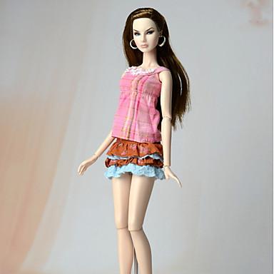 Dresses Dress For Barbie Doll Silk/Cotton Blend Dress For Girl's Doll Toy
