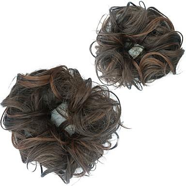 povoljno Perike i ekstenzije-Chignon punđe / Kose za kosu Kose za kosu Otporan na toplinu Sintentička kosa Kose za kosu Ugradnja umetaka Tamno smeđa / tamno Auburn