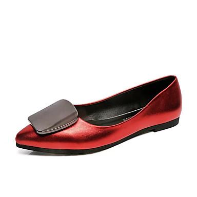 Női Cipő Szövet Nyár Kényelmes Szandálok Gyalogló Ék sarkú Lábujj nélküli Csokor mert Fekete / Piros / Világosbarna