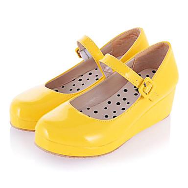 Boty Sweet Lolita Princeznovské Klínový podpatek Boty Jednobarevné 3 CM Bílá Černá Žlutá Růžová Pro PU kůže/Polyurethanová kůže